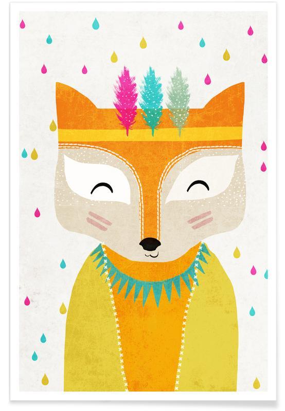 Børneværelse & kunst for børn, Ræv Plakat