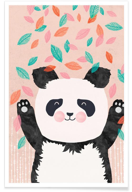 Art pour enfants, Pandas, Panda enfant - Illustration affiche