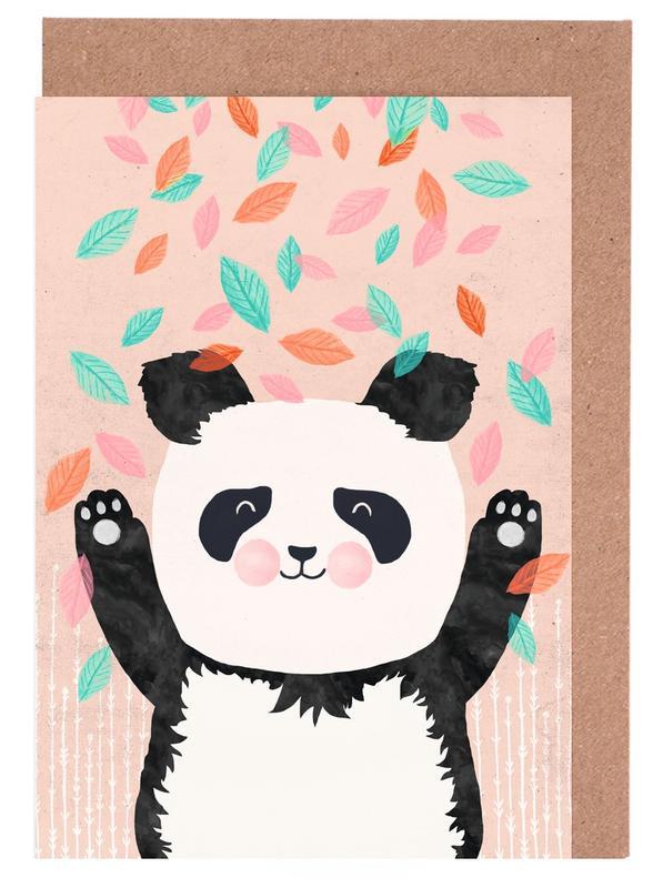 Kinderzimmer & Kunst für Kinder, Pandas, Panda -Grußkarten-Set