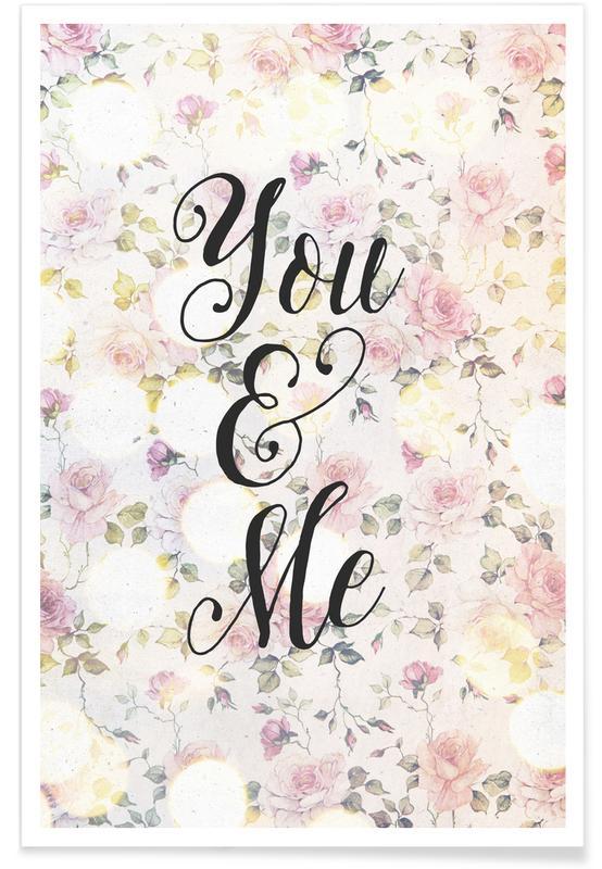 Citations d'amour, Anniversaires de mariage et amour, Saint-Valentin, You and Me affiche