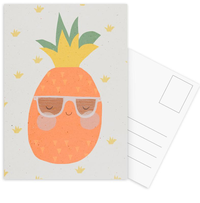 Ananas -Postkartenset