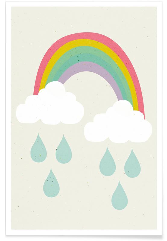 Kinderzimmer & Kunst für Kinder, Happy Day -Poster