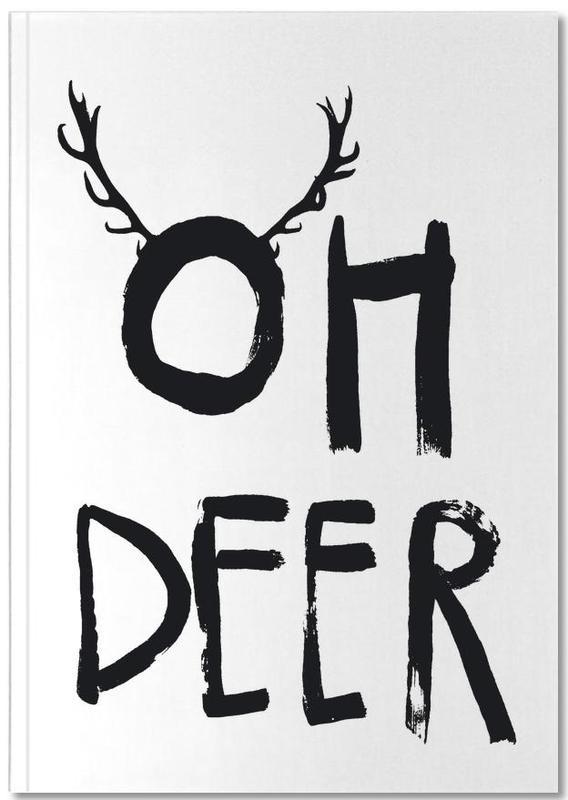 Zwart en wit, Kerst, Oh Deer Notebook