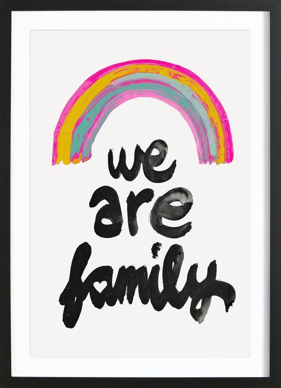 We Are Family -Bild mit Holzrahmen