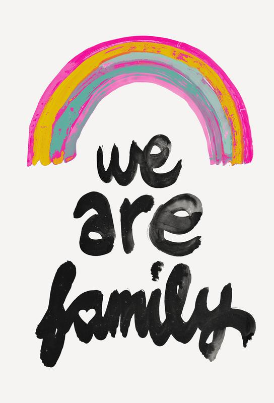We Are Family Akrylglastavla