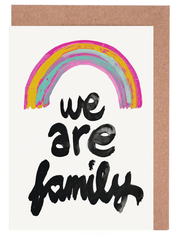 We Are Family Greeting Card Set