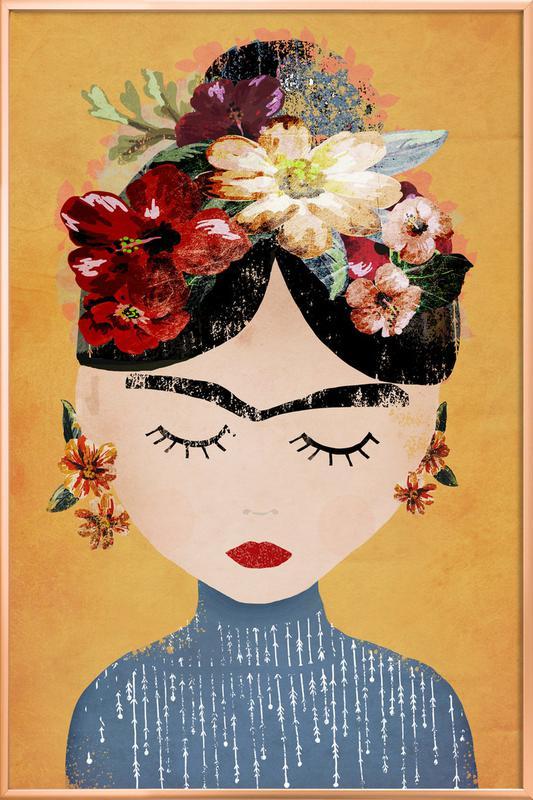 Frida -Poster im Alurahmen