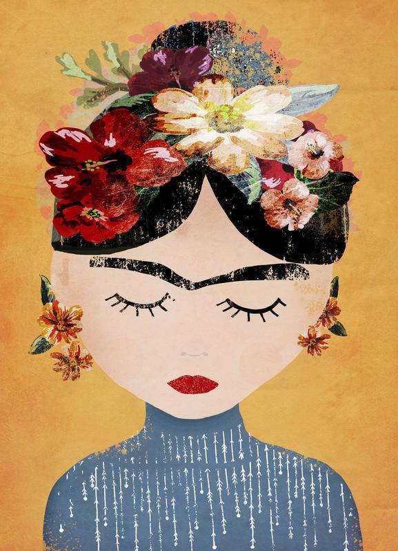 Frida canvas doek