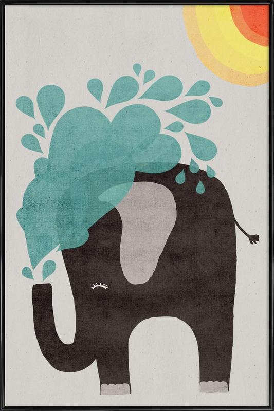 Funny Elephant 2 affiche encadrée