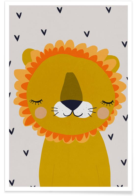 Lion Nursery Illustration Plakat