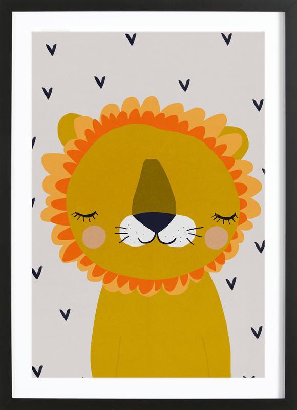 Löwe Poster i träram