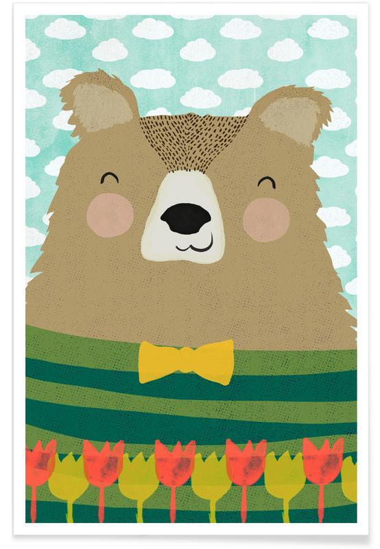 Beren, Kunst voor kinderen, Gärtner Bruno poster