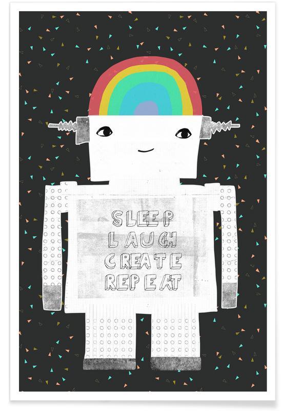 Sleep Laugh Create affiche