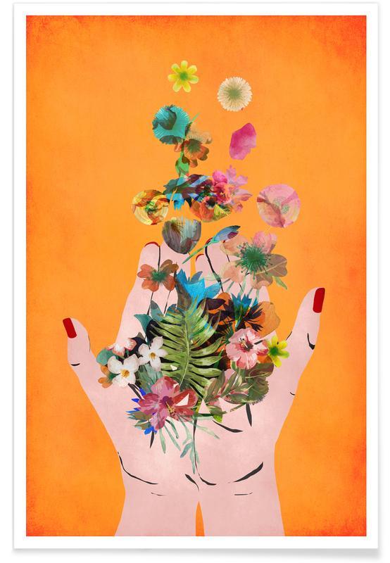 Art pour enfants, Frida Kahlo, Frida's Hands affiche