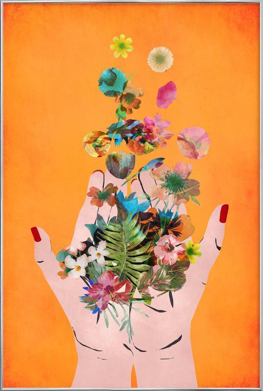 Frida's Hands Poster in Aluminium Frame