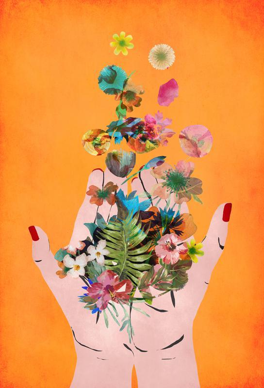 Frida's Hands acrylglas print
