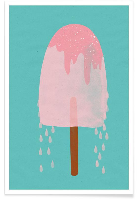 Eiscreme, Ice Cream Strawberry -Poster