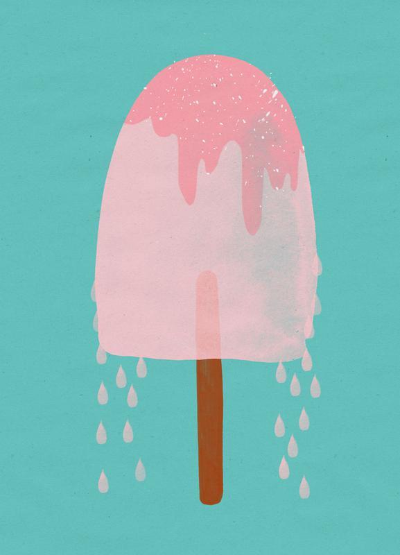 Ice Cream Strawberry -Leinwandbild