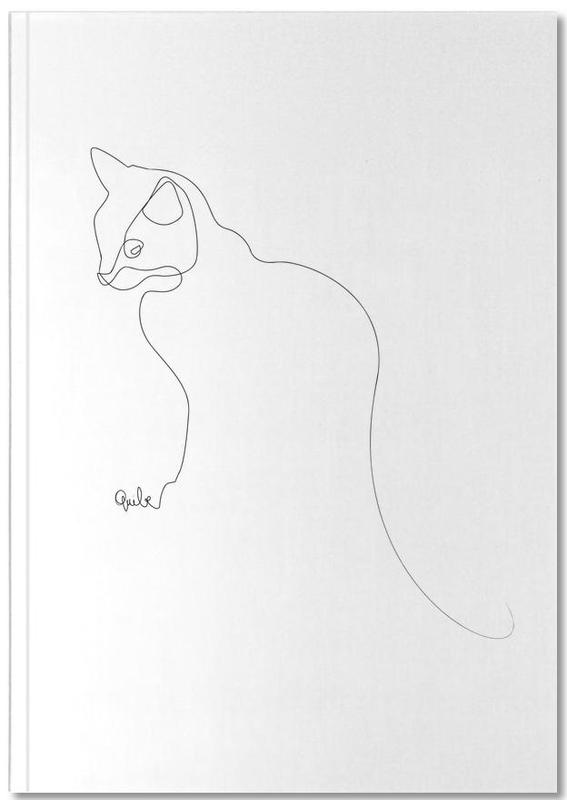 One Line Cat Notebook