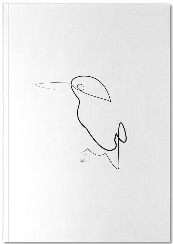 One Line Night Bird Notebook