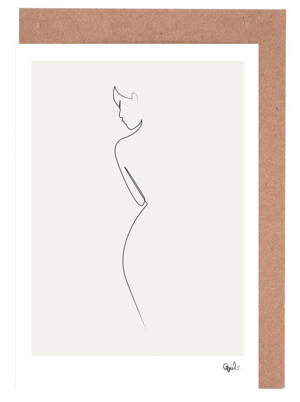 One Line Nude Greeting Card Set