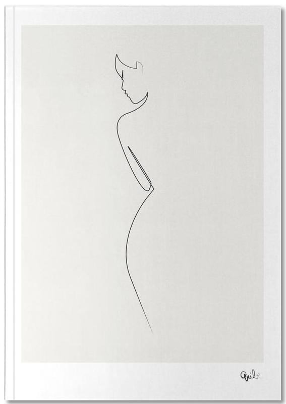 One Line Nude Notebook