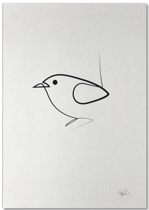 Black & White, Simple as a Bird Notepad