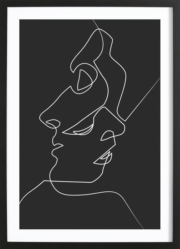 Close Noir Poster i träram
