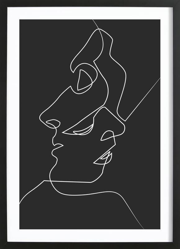 Close Noir ingelijste print