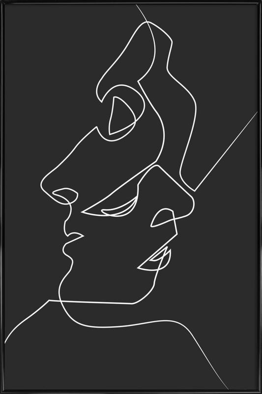 Close Noir ingelijste poster