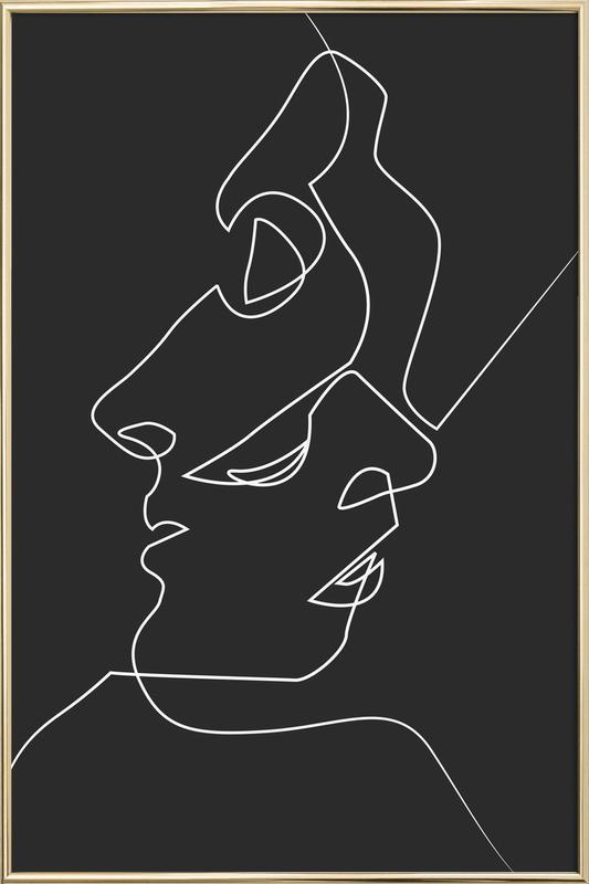Close Noir -Poster im Alurahmen