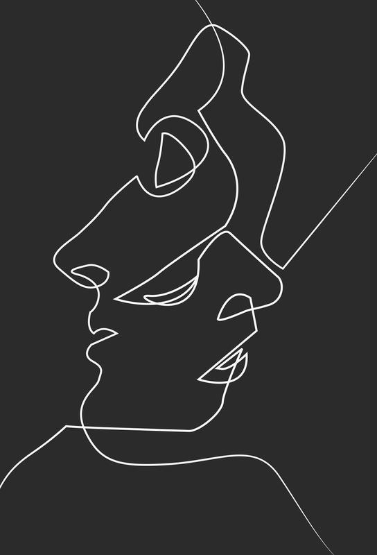 Close Noir acrylglas print