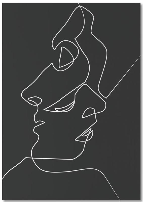 Black & White, Couples, Close Noir Notepad