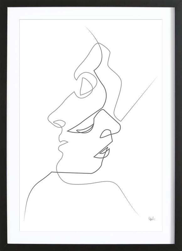 Close on White ingelijste print