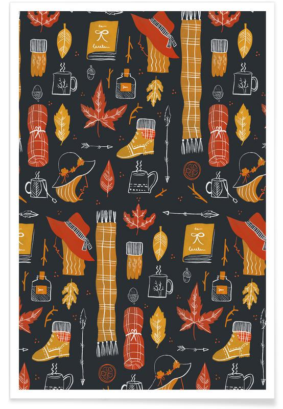 Kinderzimmer & Kunst für Kinder, Muster, Autumn -Poster