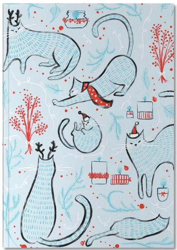 Katten, Kerst, Kunst voor kinderen, Christmas Cats Notebook