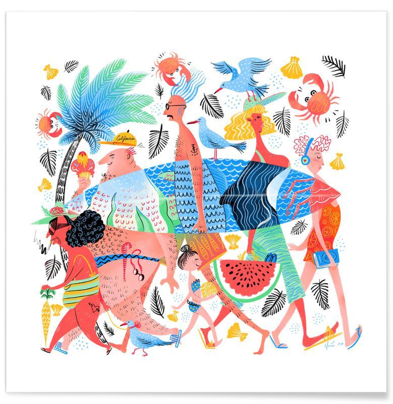Summer Creatures Poster