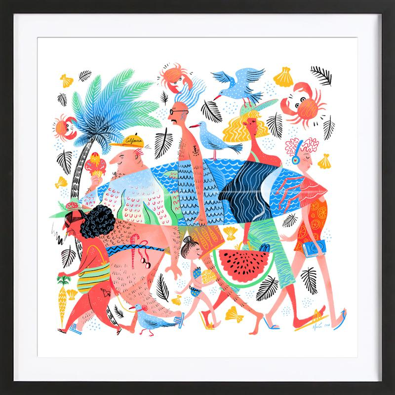 Summer Creatures Framed Print