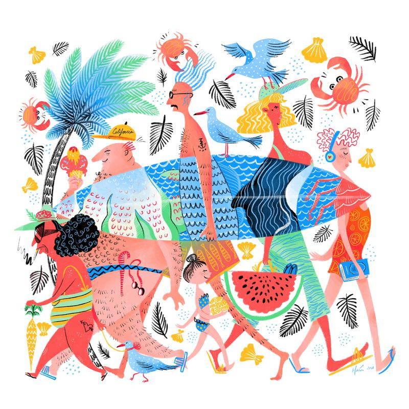 Summer Creatures Acrylic Print