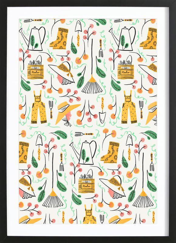 Gardening ingelijste print