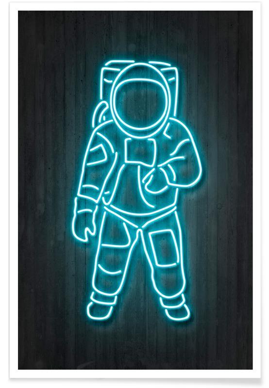 Astronauten, Neon astronaut poster