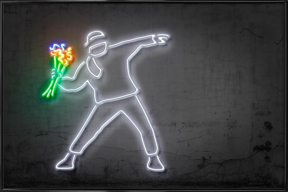 Flower Thrower affiche encadrée