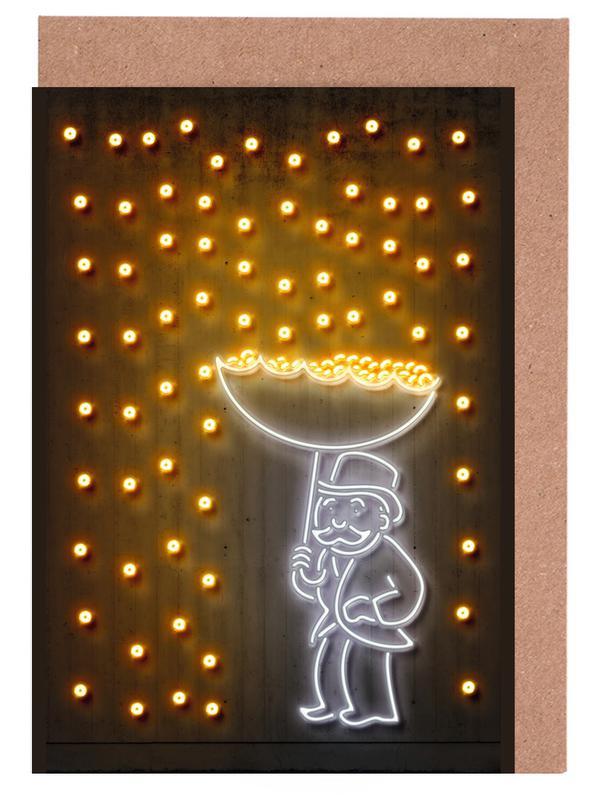 Pop Art, Street Art, Money Rain cartes de vœux