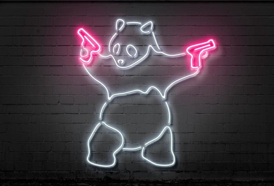 Panda Aluminium Print