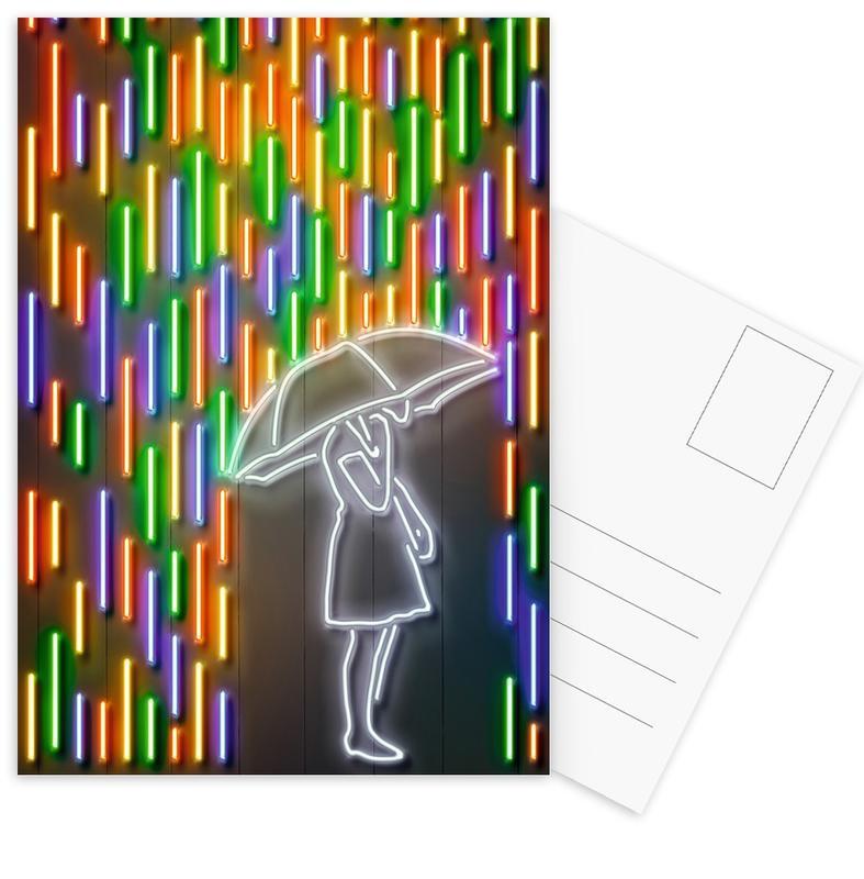 Street Art, Rain cartes postales