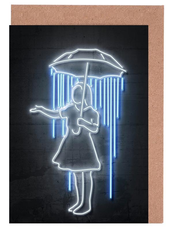 Humour, Pop Art, Street Art, Umbrella Girl cartes de vœux
