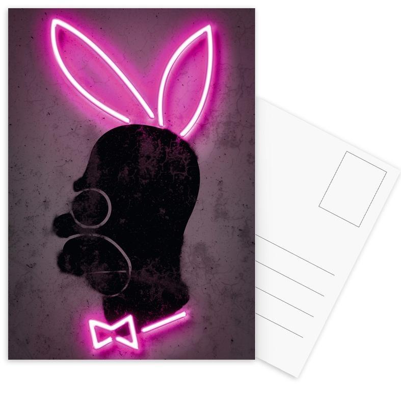 Pop Art, Bunny Postcard Set