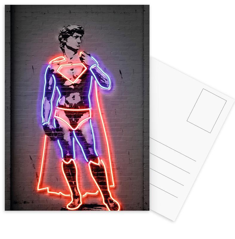 Pop Art, Superman, David Postcard Set