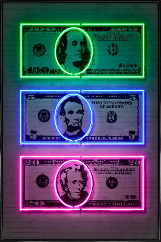 Dollars ingelijste poster