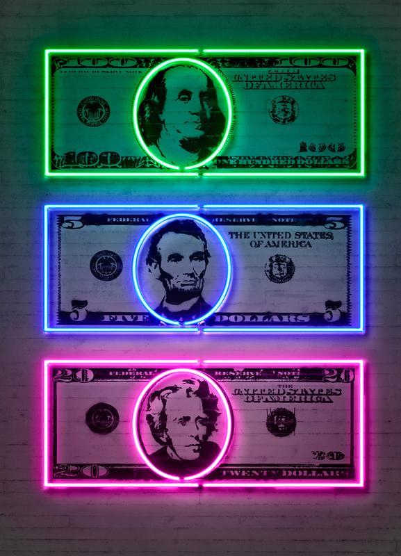Dollars canvas doek